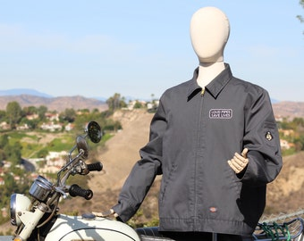"Grey ""Big Big Bear Choppers"" Mechanics Jacket (Handsewn Patches / 00s)"