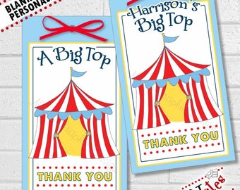Circus Party Tags, Circus Thank You, Carnival Birthday Party Favor Tags, Carnival Thank You, Circus Favor Tag, Carnival Tags | PRINTABLE