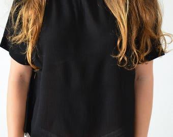 LUCCA, T shirt black