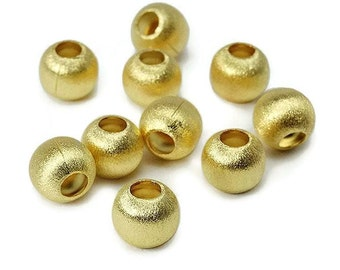 Pearl round brushed silver, gold plated.8 mm  SB0046MY PK0316