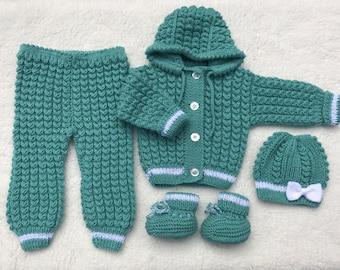 Handmade Knitted Baby Set