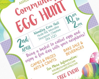 Church picnic flyer etsy easter egg hunt flyer invitation poster template church school community goods sale flyer egg saigontimesfo