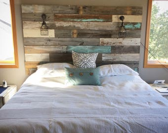 headboard white diy dsc wood from washed weathered