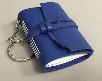 Leather keyring notebooks