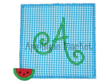 Machine Embroidery Design Applique Watermelon Patch INSTANT DOWNLOAD