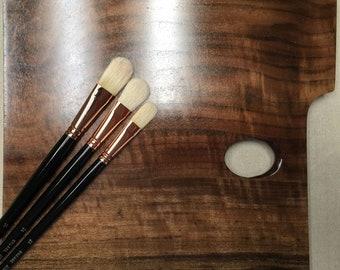Claro Walnut Impressionist Artist's Palette (Medium/Right-Handed)