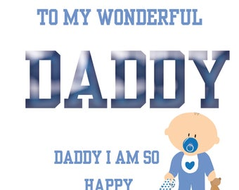Daddy's 1st Fathers Day Card boy