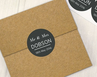 Personalised Classic Stickers For Save the Dates Invitations