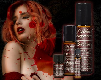 BATHORY Perfume Oil with Blood Orange, Sangria, Bulgarian Rose, Red Currant, Red Musk, Amber Resin, Blood Countess, Ships Out in 5-8 Days