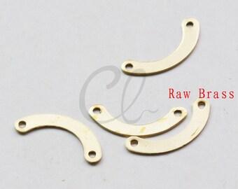 100pcs Raw Brass Geometric U Pendant - Link 17x3mm (2006C-F-494)