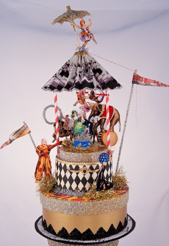 custom wedding cake toppers nz items similar to vintage circus wedding cake topper on etsy 13258