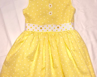 Flowers and Dots Spring Dress