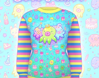 """Blue """"OctoParty"""" Sweater"""