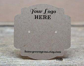 Fancy Die Cut Custom Earring Display Cards - Jewelry Tags - Product Display - Personalized with Logo