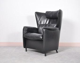 Vintage Black DS-23 Wingback Lounge Chair by Franz Schulte for De Sede