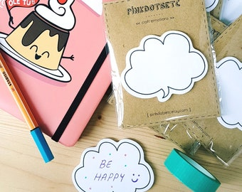 Cloud Callout Kawaii Sticky notes, Memo Notes, Dialog box Sticky Notes, Callout Shapes Sticky Notes, Paper Stickers, Planner Accessories