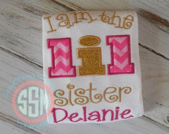 I Am The  Lil Sister Bodysuit or shirt, New Baby, Sibling Shirt, Big Sister, Little Sister, Coming Home New Baby Shirt