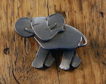 Elephant, with Two Sets of Moving Legs, Brooch.