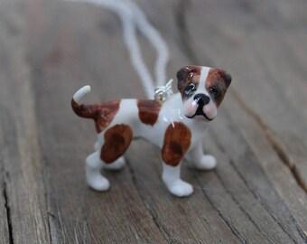 American Bulldog ceramic necklace