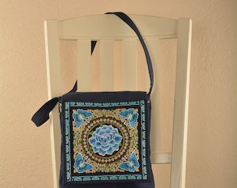 Teal Lotus Sasha purse