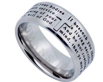 "Logos Ring Silver ""Transformed"""