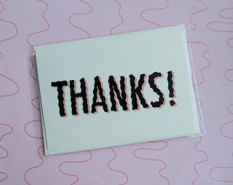 Thanks! For Nothing! || card and envelope