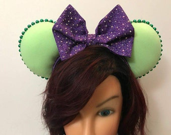Green and Purple Mouse Ears