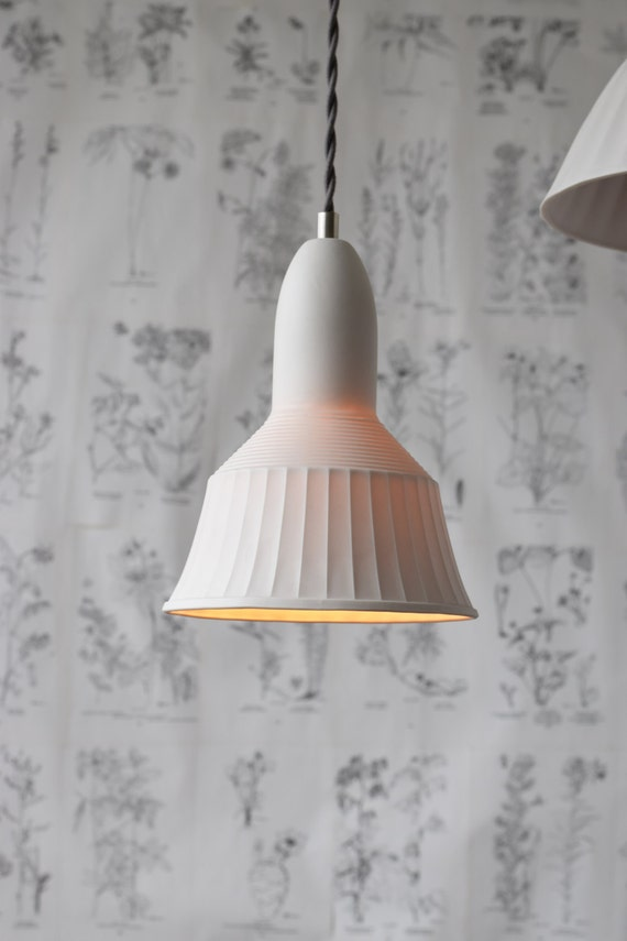 Veda Porcelain Pendant Light, Modern Lighting Design, Translucent Porcelain Lighting