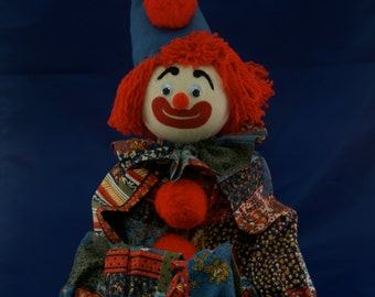 Vintage Cloth Shelf-sitter Clown