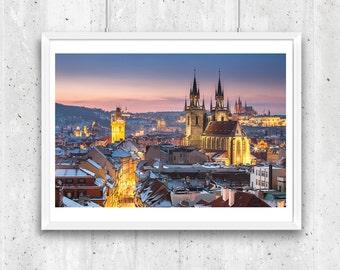 Oldtown in winter, Prague. Unframed  Fine Art Photograph