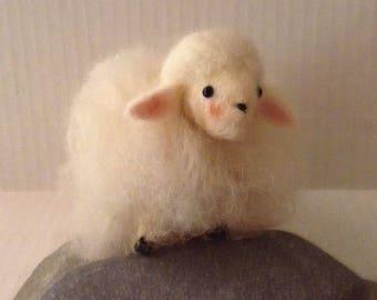 Sheep Needle Felted Wool
