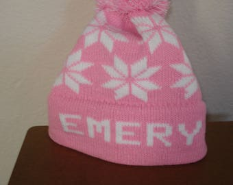 Personalized Emery hat.