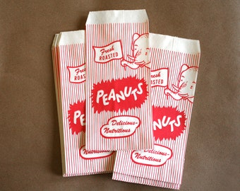 50 Elephant Peanut Bags / Candy Bags / Treat Bags / Favor Bags / Paper Bags / Carnival Party Bags / Circus Party Bags / Peanut Popcorn Bags