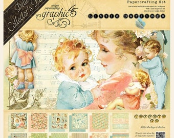 LITTLE DARLINGS by GRAPHIC 45  - In Stock Now !!  12x12 Cardstock for Babies with Accessories