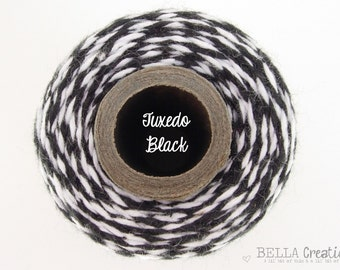 SALE - Tuxedo Black Bakers Twine - TIMELESS TWINE