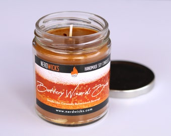 Buttery Wizard's Brew - Harry Potter Inspired Soy Candle - Butterbeer Scent