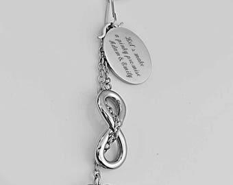 Personalized Infinity Heart Key Chain, Infinity Keychain, Friendship keychain, Infinity Keyring, Heart  Infinity Keyring Engraved Free