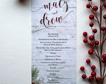 christmas wedding programs juve cenitdelacabrera co