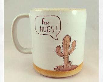 Free Hugs- cactus mug