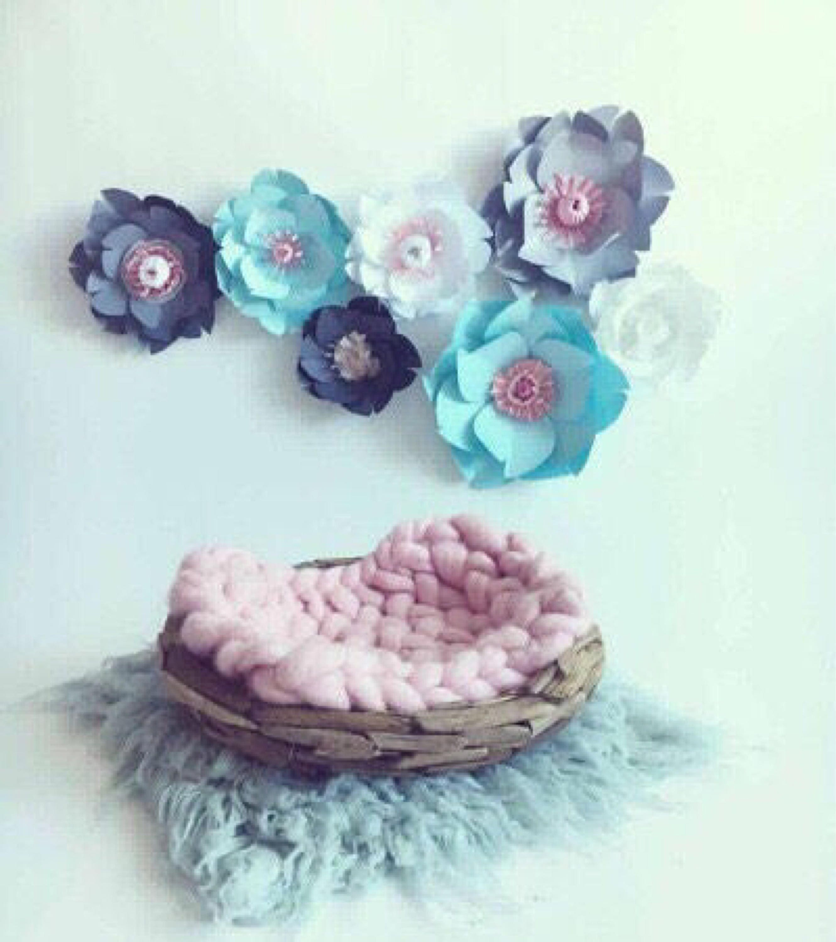 Large paper flowers light blue room wall decor baby girl nursery large paper flowers light blue room wall decor baby girl nursery bedroom white decor gray flower wall girl kid bedroom giant floral wall mightylinksfo