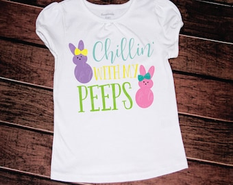 Chillin with My Peeps svg, Easter svg, Girl Easter svg, Easter Girl svg, Peeps svg, Bunny svg, heat transfer, htv file, png, dxf, tshirt svg