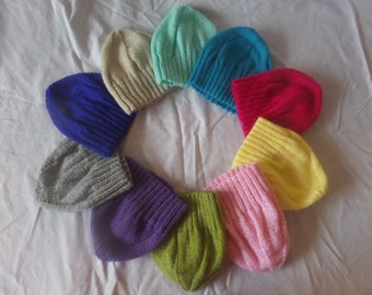 Hand Knitted Toddler Hat & Mittens Set (Girls and  Boys, 2 to 4 Years)