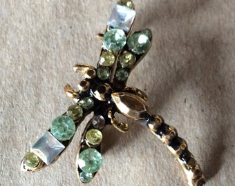 Vintage Dragonfly Brooch Pin
