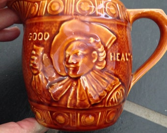 Laughing Cavalier Ceramic Mug Creamer Pitcher by Falcon Ware