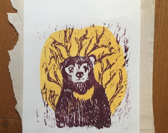 Sun Bear woodcut editions