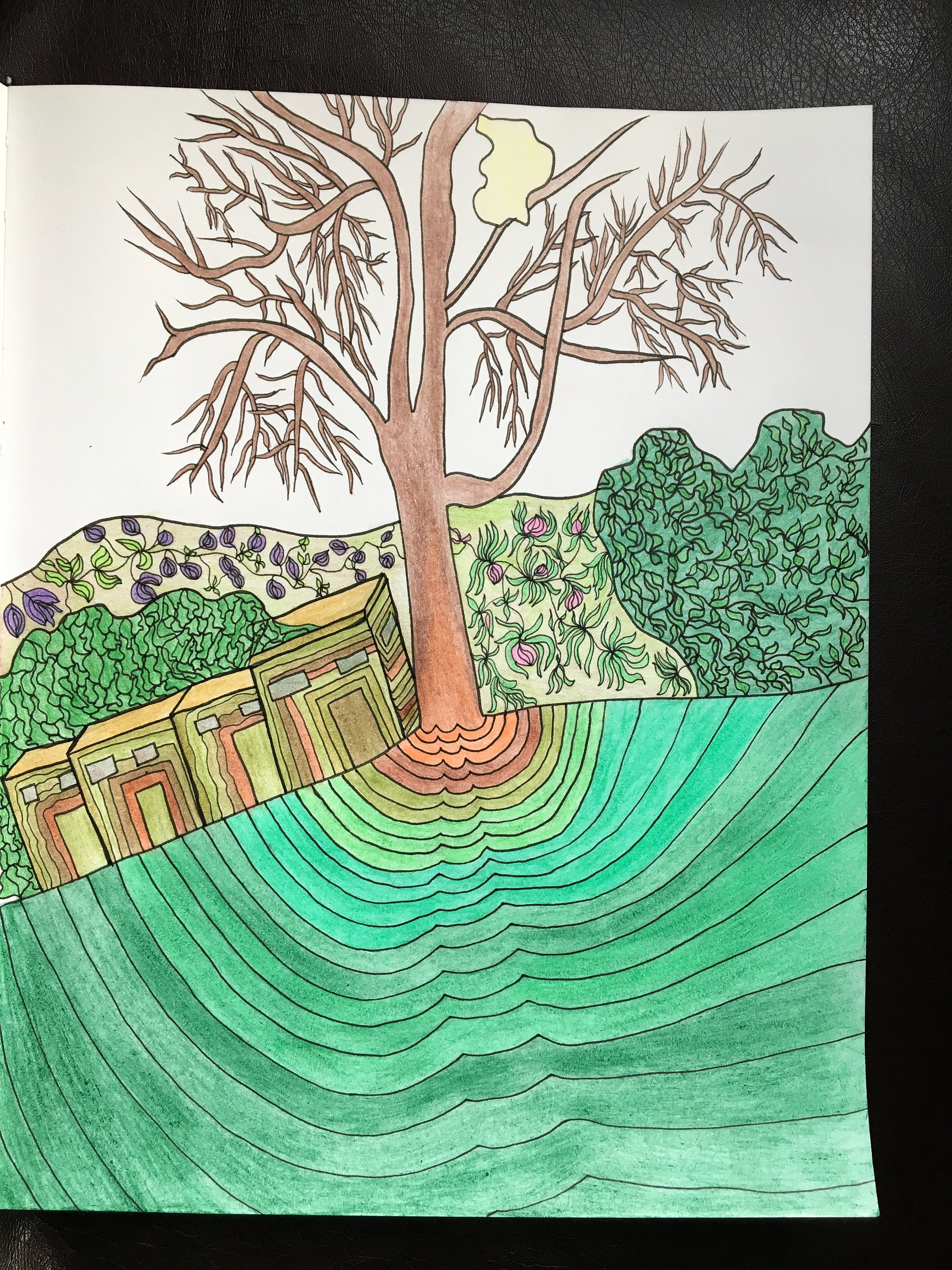 Willowy Trees Coloring Page download