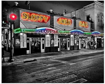 "11x14 Fine Art Print of ""Sloppy Joe's Bar"" in Key West Florida,"