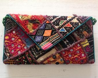 Banjara clutch bag, ethnic bag, handmade in India, Rajasthani crafts, hippie, boho, bohemian