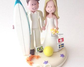 Wedding cake topper - surf
