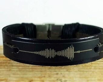 FAST SHIPPING/ Soundwave Bracelet, Waveform Bracelet, Audio Bracelet, Sound Wave, Waveform, Soundwaves, Soundwave Jewelry, Baby Heartbeat,